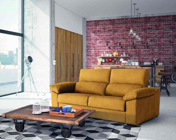 Sofá cama Beatriz color mostaza