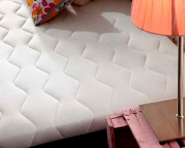 Base tapizada Basic blanca