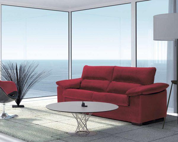 Sofá cama Tacoronte tela roja