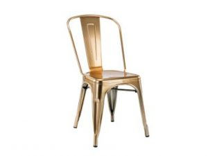 Silla acero Tol brillo gold