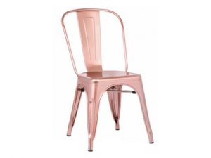 Silla acero Tol brillo rose gold