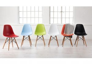 Silla tower madera y polipropileno colores