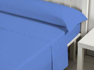 Juego sábanas cotton azul