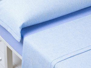 Juego sábanas Carla franela azul